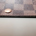 【Louis Vuitton】ルイヴィトン ダミエ 長財布の色剥げ修理